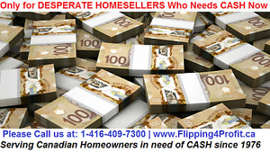 Desperate Home sellers in Sudbury Who need CASH now