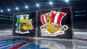 2 tickets Mooseheads Friday Game 1 behind bench can email tix