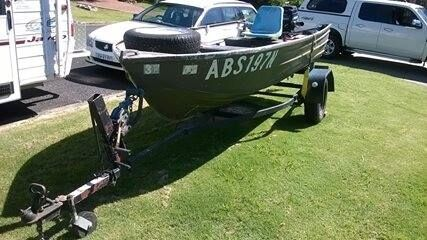 Reliable 12ft Quintrex tinne, motor and trailer for sale Eurobodalla Area Preview
