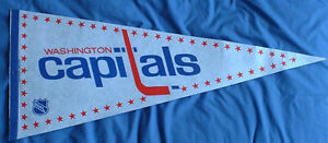 Washington Capitals (NHL) hockey pennant (retro original logo)