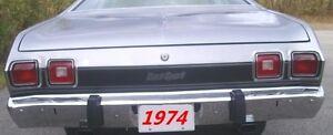 1974 Dodge Dart Sport Taillight Panel Gloss Black Tape Stripe Kit NEW MoPar