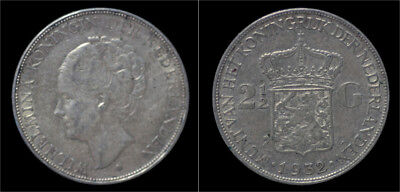 Nederland Wilhelmina I 2 1/2 gulden(rijksdaalder)1932