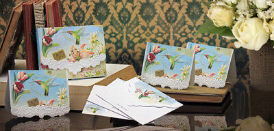 *Carol Wilson Fine Arts Stationery 10 Note Cards Envelopes Blank Humming Bird Carol Wilson Fine Arts