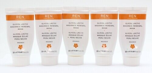 5x Ren Glycol Lactic Radiance Renewal Mask Facial Cream 20ml