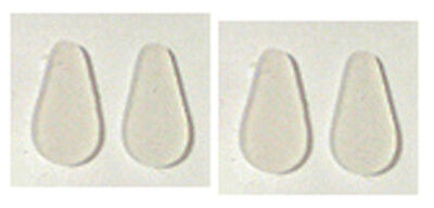 Adhesive Stick-on Silicone Nose Pads for Glasses - 10mm Clear (4-56 (Clear Nose Pads For Glasses)