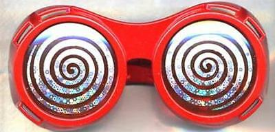 Red X-Ray Hypnotizing Sunglasses with Swirl Lens - Hypnotizing Swirl