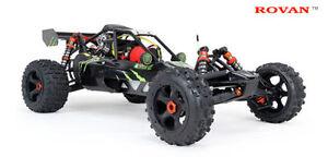 1/5 RC Baja 5B Buggy RTR 4 Bolt 26cc Petrol 2.4ghz Walbro Alloy Diff  Rovan KM