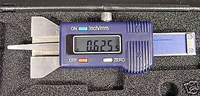 ELECTRONIC DIGITAL DEPTH and STEP GAUGE SAE & METRIC Stainless Steel Blade CASE