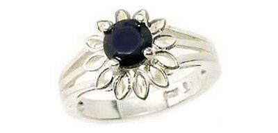 19thC Antique 3/4ct Iolite Ancient Viking Navigation Aid Sterling Ring