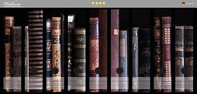 Wallario Ordnerrücken selbstklebend für 9 breite Ordner - alte Bücher Buchrücken
