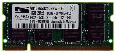 ProMos DDR2 1GB 667MHz PC2 5300 SO-DIMM 200Pin Memory For Laptop **Best