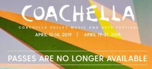 Coachella weekend 1 and 2 packages available