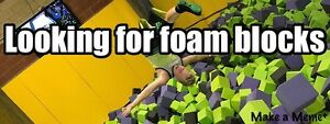 Looking for foam blocks to build foam pit