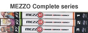 MEZZO Danger Service Agency series - NEW - 3 anime volumes