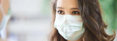 100x Schutzmasken 3lag. Mund Nase Maske Made in EU 1 Masken Atem schutz 2 3 ffp