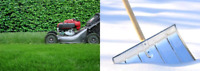Grass cutting and snow removal