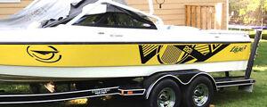 Malibu boat graphic kits,Tige vinyl graphic kits