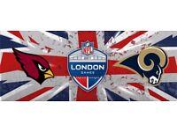 2 halfway line seats LA Rams v Arizona Cardinals less than face value. Excellent seats.