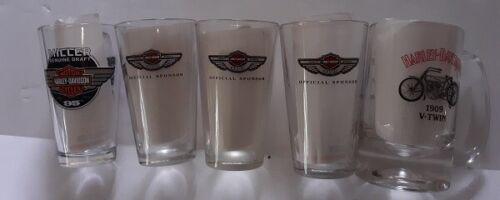 Harley Davidson Motorcycles Set of Glasses / Mug Free Shipping