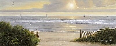 Summer Moments II Diane Romanello Coastal Ocean Beach Panel Print Poster 32x14 ()