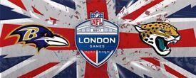 NFL London Ravens v Jaguars (4 tickets)