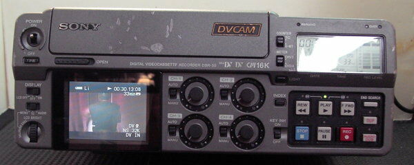 SONY DSR-50 PORTABLE PROFESSIONAL FIELD EDITOR VTR VCR DECK WORKS GREAT BUYITNOW