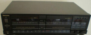 TECHNICS RS-T55R STEREO DOUBLE DECK AUTO REVERSE TAPE RECORDER