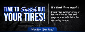 BTR Auto Tire Change Over special on Now! $24.99