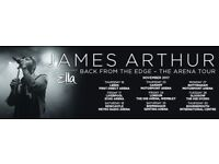 x2 James Arthur - Great Seating Wembley Concert - 24th November 2017
