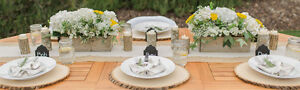 Rustic Wedding Decor--wood slices, cake stands.... Kitchener / Waterloo Kitchener Area image 2