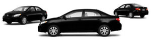 2010 5-SPEED BLACK TOYOTA COROLLA
