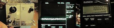 Tektronix TR501 - 3 modified tracking generator !NR!