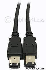 For sale: Rocketfish 4 feet=1.2m FireWire 6-Pin To 6-Pin Cable