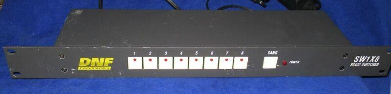 DNF Control RS422 Switcher Model SW1X8 w/o Power Supply