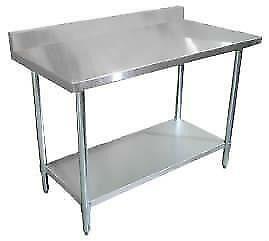 TABLES Stainless Steel Tables with Backsplash NEW .*RESTAURANT EQUIPMENT PARTS SMALLWARES HOODS AND MORE*