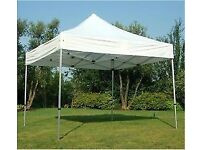 3m x 3m (10ft x 10ft) heavy duty pop-up gazebo with walls & roof. NEW & BOXED market traders marquee