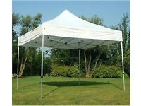 3m x 3m (10ft x 10ft) heavy duty pop-up gazebo with walls & roof. NEW & BOXED market traders garden