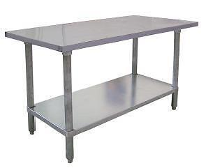 ANY SIZE STAINLESS STEEL PREP TABLES THE BEST PRICES AT SINCO FOOD EQUIPMENT CALL TODAY 519-208-8884