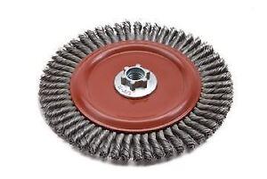"""7""""x1/4""""x.020"""" steel wire wheel"""