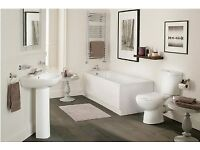 full bathroom - 1700 bath, basin, toilet, taps and wastes - all for £228 - all brand new
