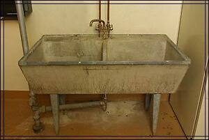 Antique Concrete Laundry Sink