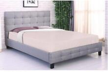 $289 Brand New and Quality Queen Size Fabric Bed Frame Clayton Monash Area Preview