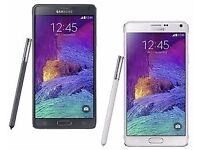 New Samsung Galaxy Note 4, 32GB Smartphone – (UNLOCKED) WHITE AND BLACK
