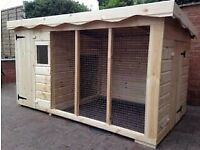Brand new dog kennel and run RRP £900