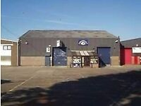 A 110 sq ft office is available situated within a workshop.