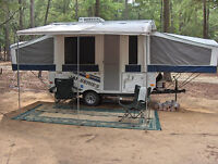 Tent trailer covered storage