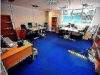 This business centre provides flexible serviced office suites suitable for 1–12 persons .