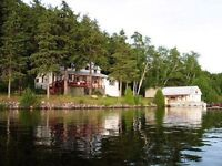 Lakefront lodge and cabin 2 acres 200` on Toad lake Port Loring