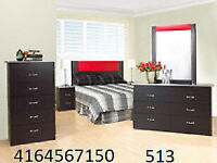 SPECIAL SALE ON BEDROOM SET WITH LEATHER HEADBOARD ONLY FOR $345