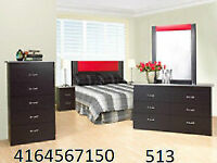 CRAZY SALE ON BEDROOM SETS WITH LEATHER  HEADBOARD FOR $345
